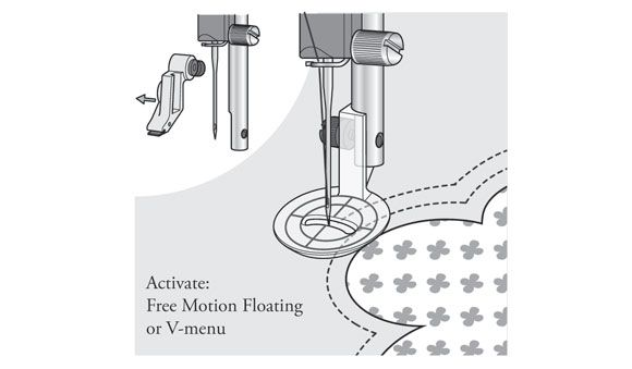 Free Motion Echo Quilting Foot - HUSQVARNA VIKING® : universal free motion quilting foot - Adamdwight.com
