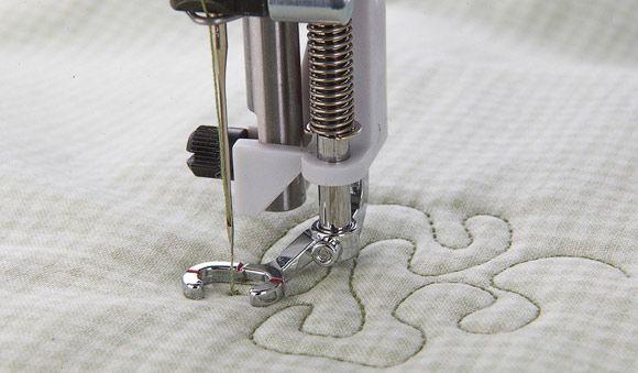 Open Toe Free Motion Spring Foot (Spring Action) - HUSQVARNA VIKING® : universal free motion quilting foot - Adamdwight.com