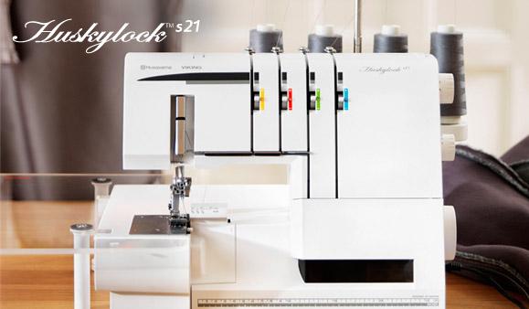 Husqvarna Viking Huskylock S21 Sewing Machine User Guide Manual COLOR COPY